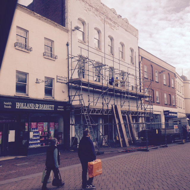 Refurbishment of old Dorothy Perkins shop in high town Hereford