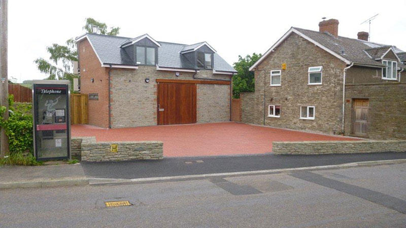 New build on Brownfield site, Longtown, Hereford